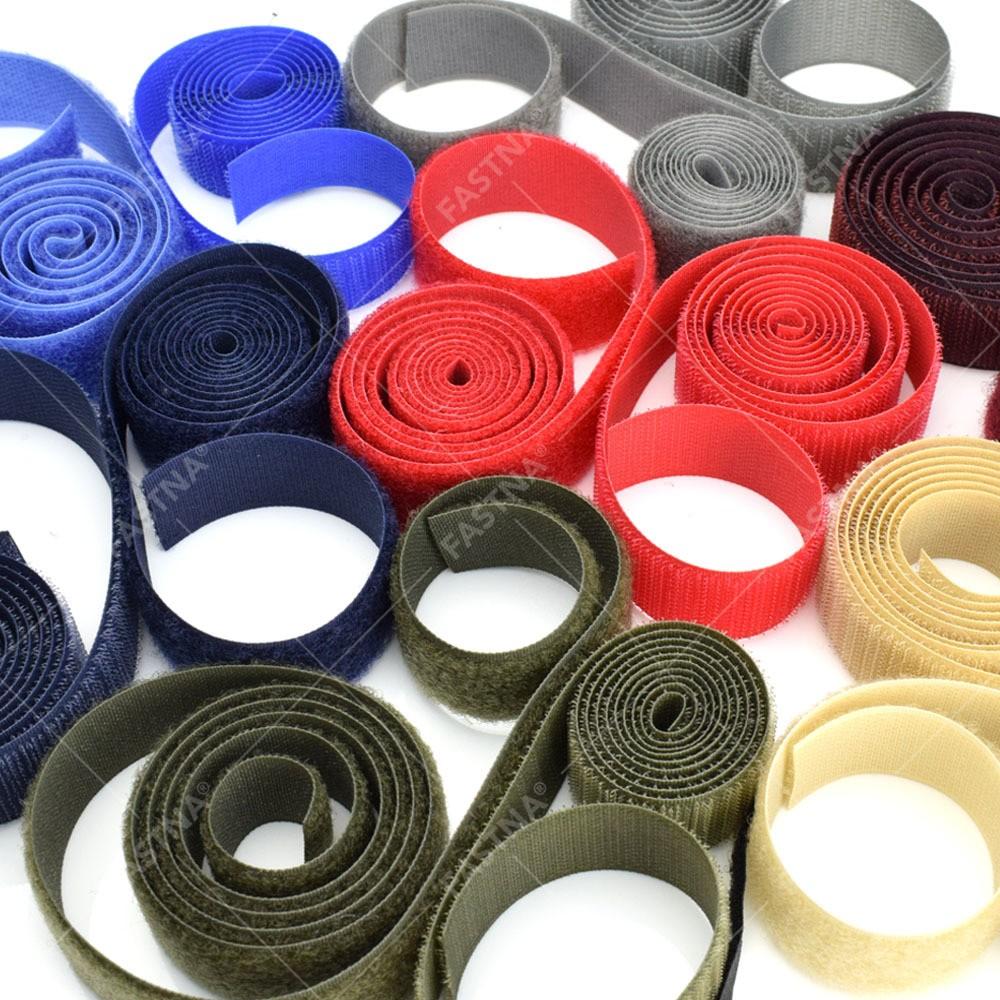 25m x Coloured Sew On FASTNA® Hook & Loop Tape