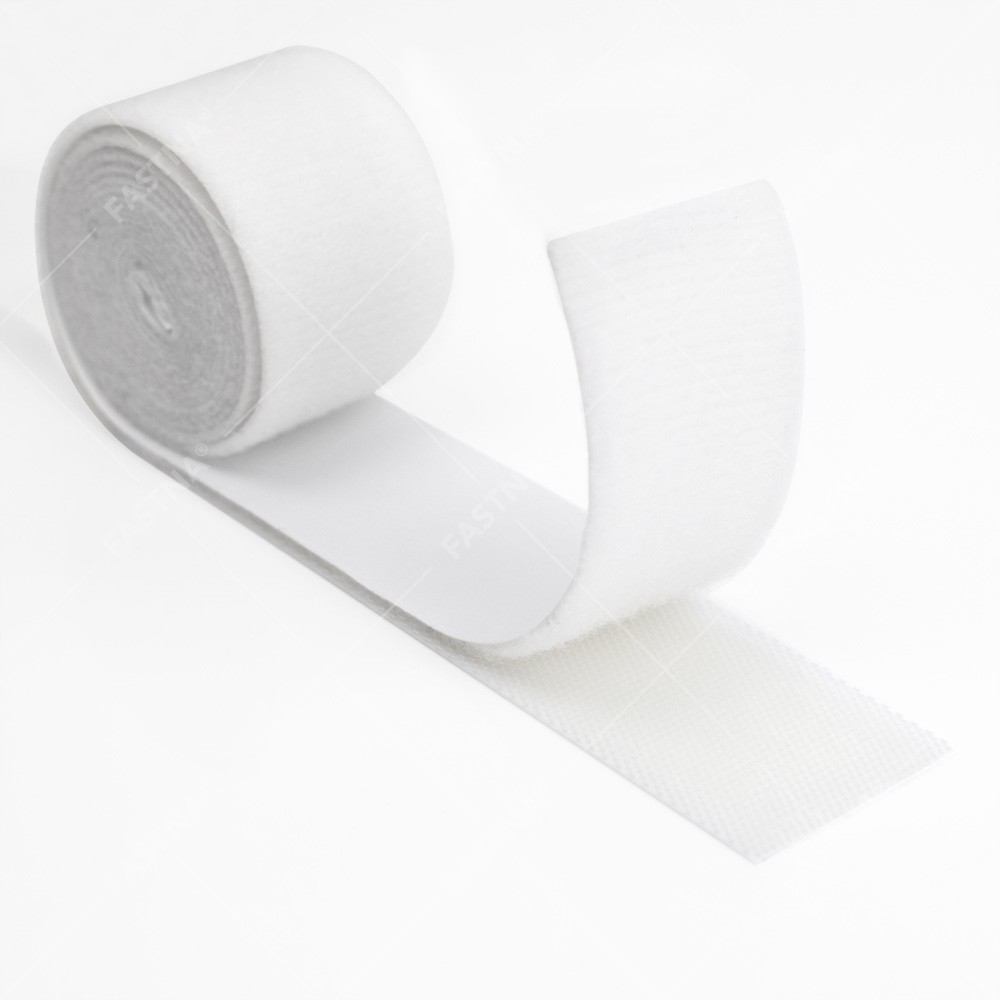 White Low Profile FASTNA® Hook & Loop Tape